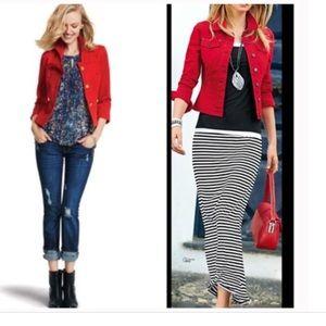 CAbi Vintage Red Denim Jacket #606